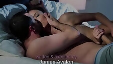 Bigtits beauty gets double fucked in the bedroom