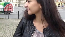 Eurobabe Lili Devil pussy filled with stranger for money