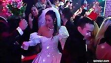 Tempting brides fucking in public