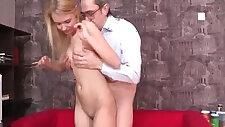 Kinky teacher gets hold of blonde teen student