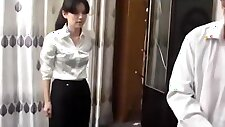 Chinese police woman tied up