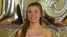 Russian teen Roxy Bell BDSM gangbang