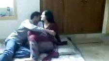 Arab girl sucks cock and gets missionary fucked on the floor