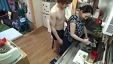 Young man fucks the tight Japanese MILF in hardcore