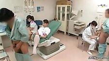 Cute asian nurse fucks a gyno doctor