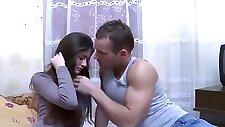 Cute lovely Ukrainian teen girl gets fucked by Russian guest