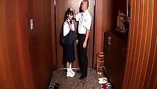 Sweet Japanese schoolgirls show off their cocksucking skills