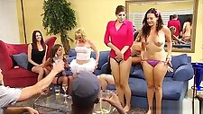 Sexy Amateur Couple Participating At A Heated Swinger Orgy