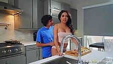 Flaming bedroom cock sharing between Aaliyah Hadid and Alura TNT Jenson