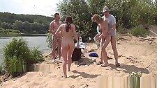 Crazy beach group sex fun!