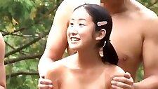 Little Ichigo Aoi & Friends in Public Bath Surprised & Group Fucked Raw
