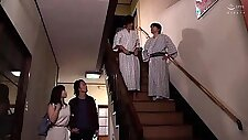 Luscious Japanese wife has two boys fulfilling her desires