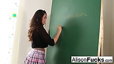 Naughty Masturbating School Girl Has To Stay After School