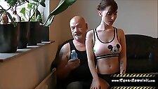 Oil massage my tits daddy