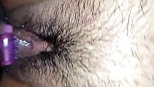 Curvy Marie Post Orgasm Creampie Play and Hairy Pussy