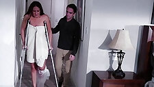 Busty milf screwed by her horny stepson