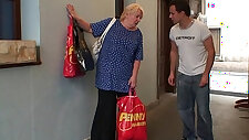 Old granny pleases an young guy