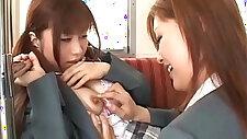 Schoolgirl Getting Her Tits Rubbed Nipples Sucked By Other Schoolgirl