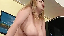 Two guys fuck one BBW slut in her tight