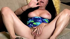 Sexy old spunker talks dirty and frigs her juicy pussy U