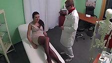 Doctor licks and fucks Kamila Novotna tight pussy